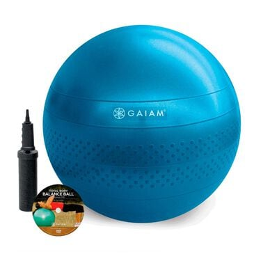 Gaiam 75cm Total Body Balance Ball Kit, Blue, large
