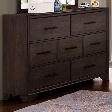 Samuel Lawrence Granite Falls 7 Drawer Dresser in Dark Brown, , large