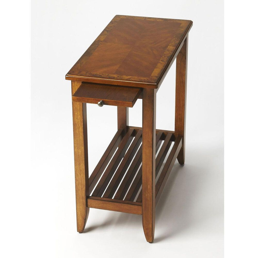 Butler Irvine Burl Chairside Table in Olive Ash, , large