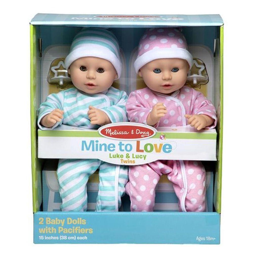Melissa & Doug Mine to Love - Twins Luke and Lucy Dolls, , large