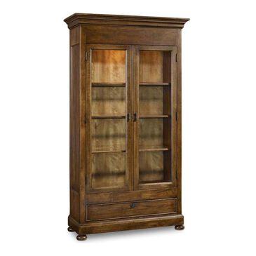 Hooker Furniture Archivist Display Cabinet in Soft Pecan, , large