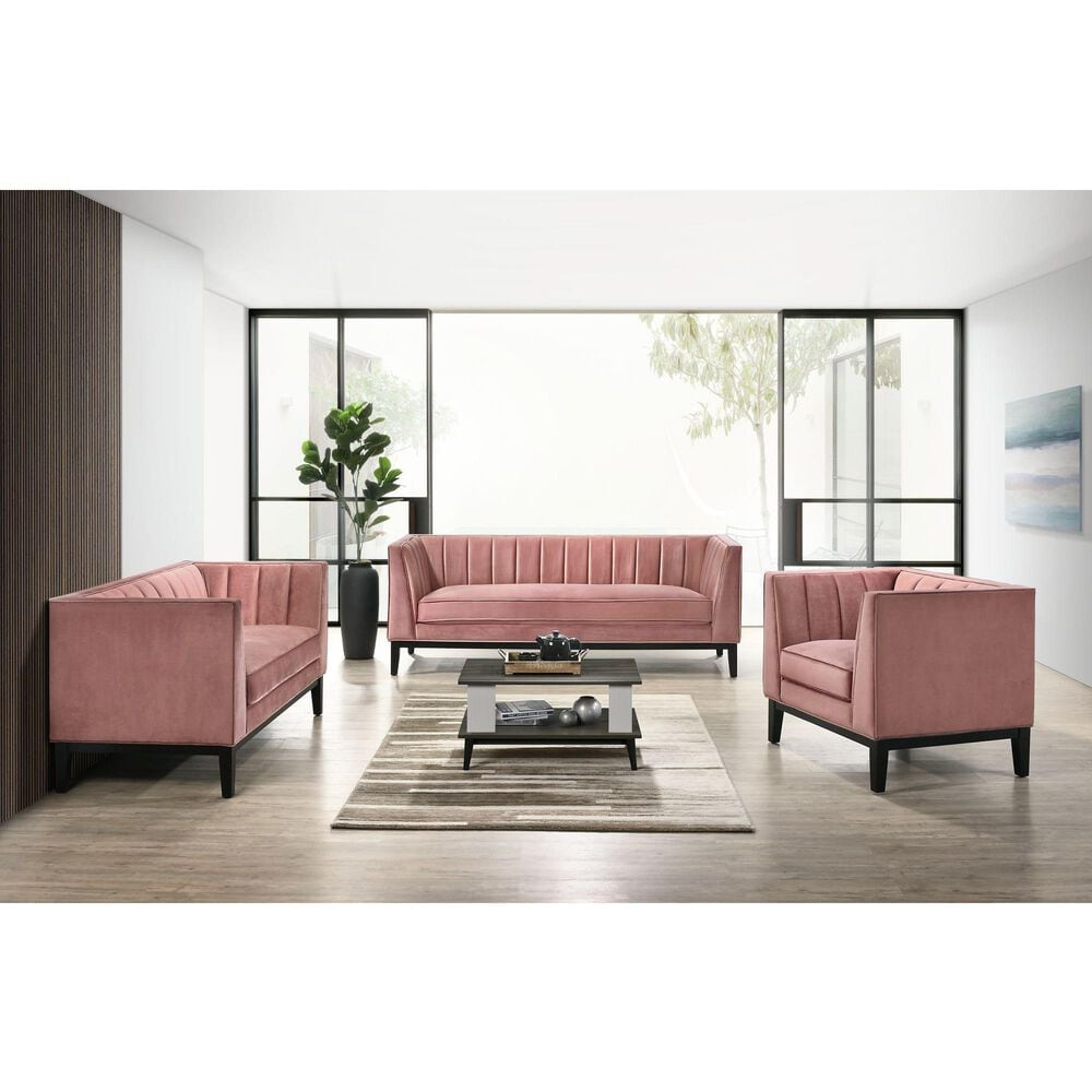 Mayberry Hill Calais Sofa in Marine Rose Velvet, , large