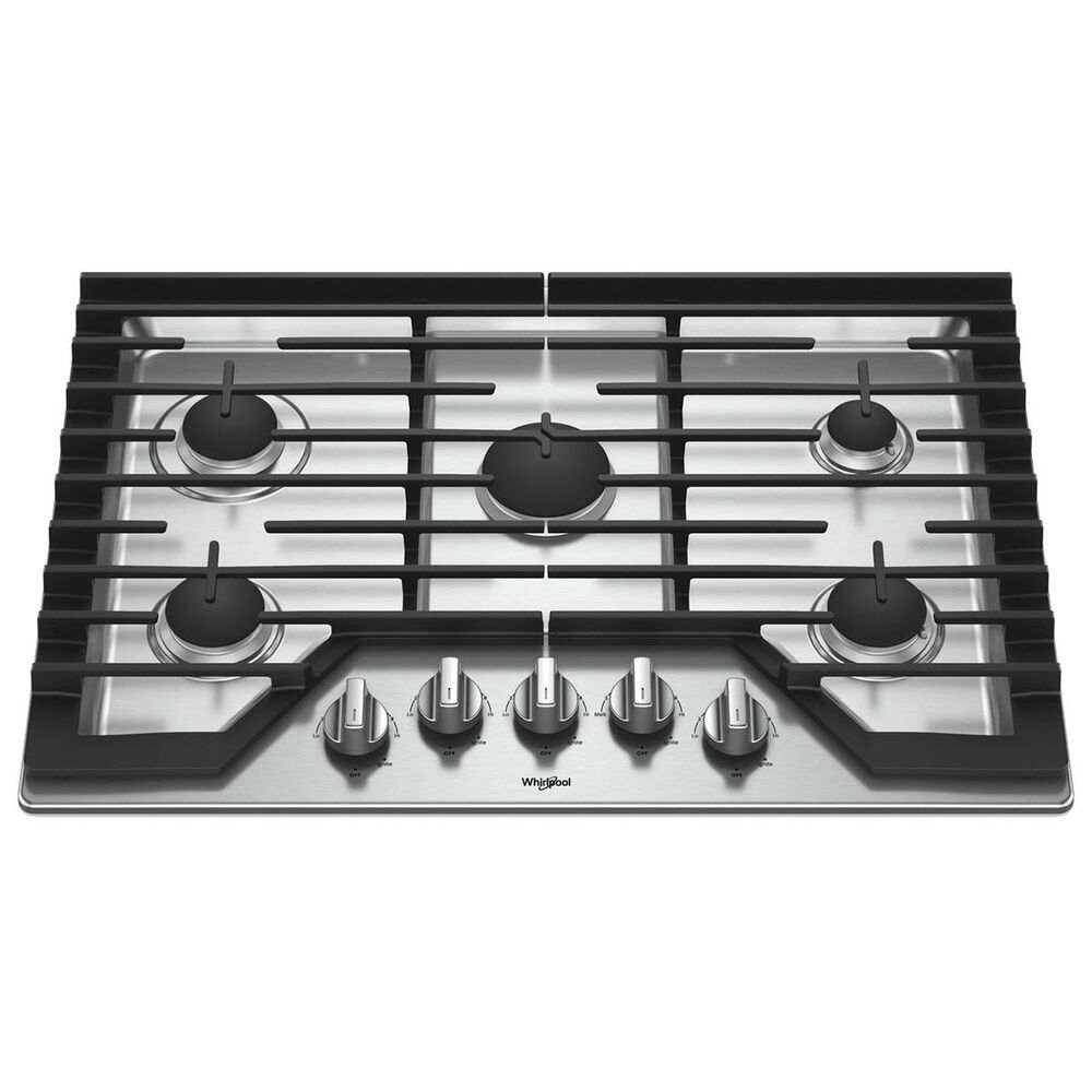 """Whirlpool 30"""" Gas Cooktop in Stainless Steel, , large"""