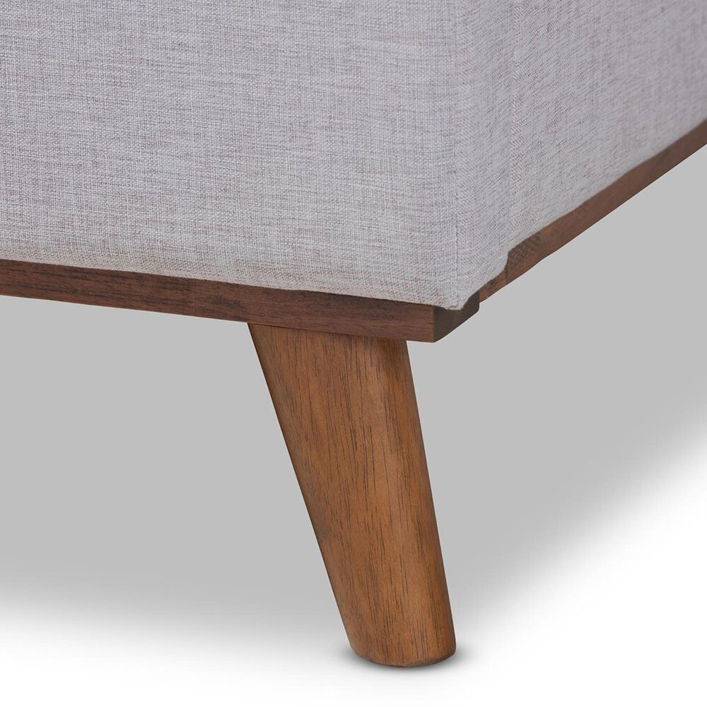 Baxton Studio Erlend Queen Upholstered Platform Bed in Grayish Beige, , large