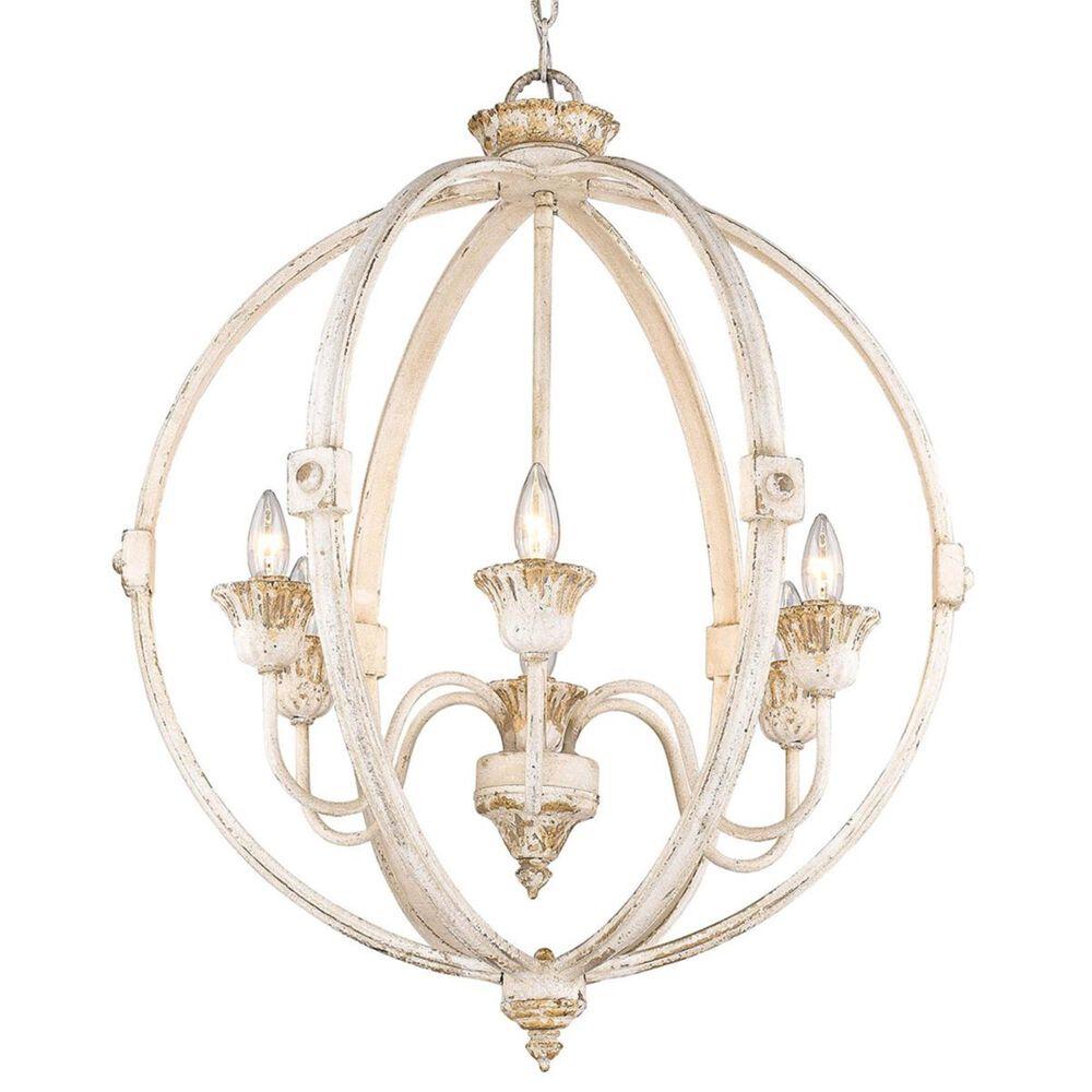 Golden Lighting Jules 6-Light Chandelier in Antique Ivory, , large