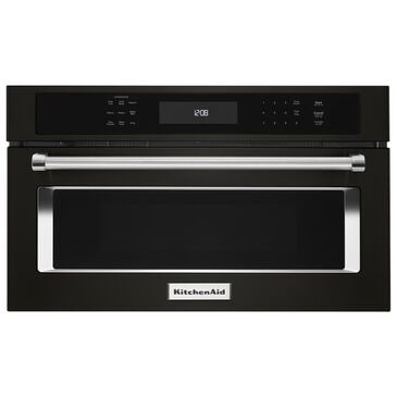 """KitchenAid 30"""" Built-In Microwave Oven with Convection Cooking in Black Stainless, , large"""