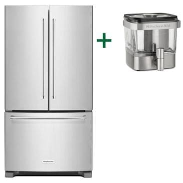 KitchenAid 20 Cu. Ft. French Door Refrigerator and Cold Brew Coffee Maker, , large