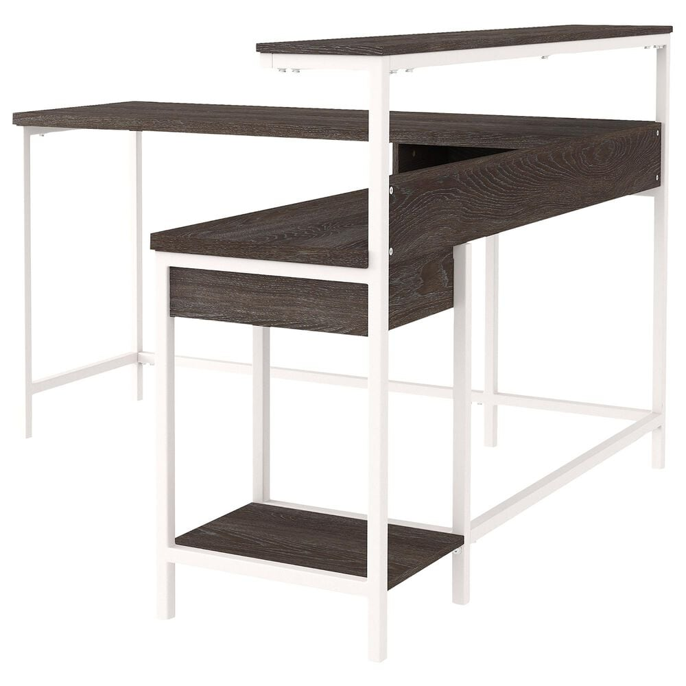 Signature Design by Ashley Dorrinson Storage L-Desk in Two-tone, , large