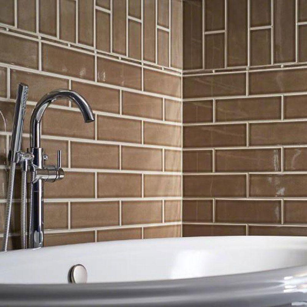 """MS International Subway Artisan Taupe 4"""" x 12"""" Ceramic Tile, , large"""