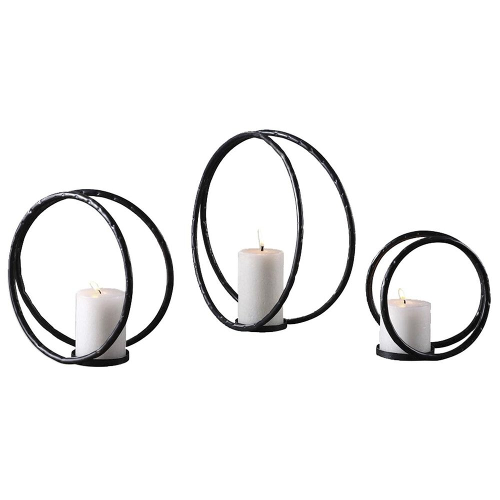 37B Pina Curved Metal Candleholders (Set of 3), , large