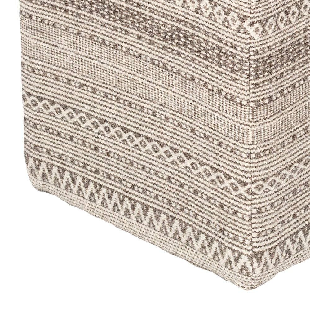 Surya Inc Leif Pouf in Taupe/Ivory, , large