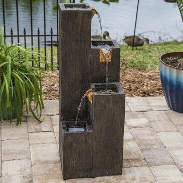 Kenroy Lincoln Indoor/Outdoor Floor Fountain in Wood Grain, , large