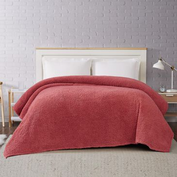 Pem America Brooklyn Loom Marshmallow Full/Queen Blanket in Dusty Rose, , large
