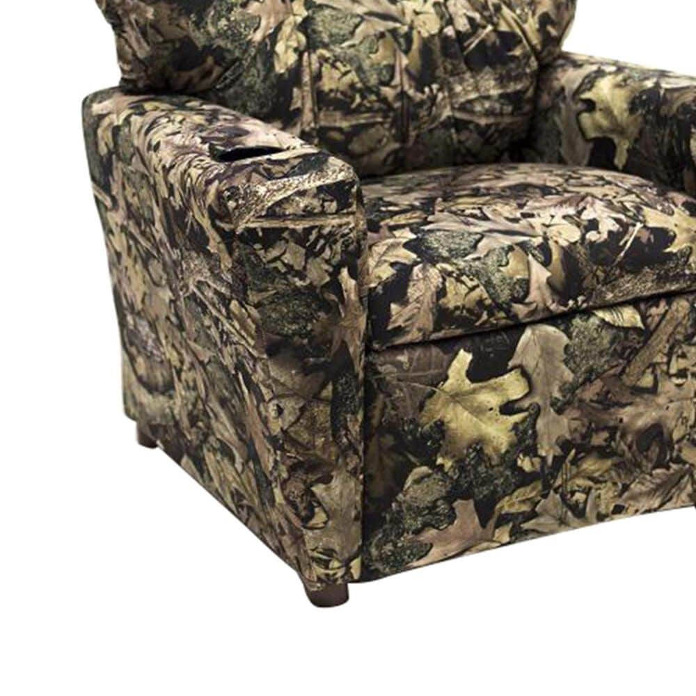 Brazil Tween Recliner with Cupholder in Camo, , large