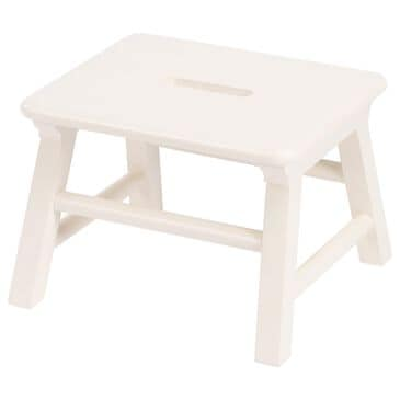 Butler Melrose Single Layer Step Stool in White, , large