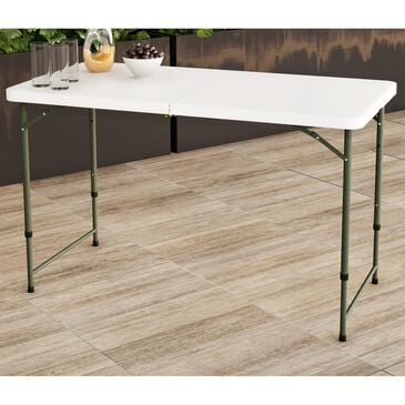 Timberlake Hastings Home 4' Folding Utility Table in White/Gray, , large
