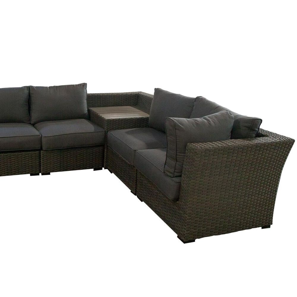 Amber Shores Walden 6-Piece Sectional in Tan and Grey, , large