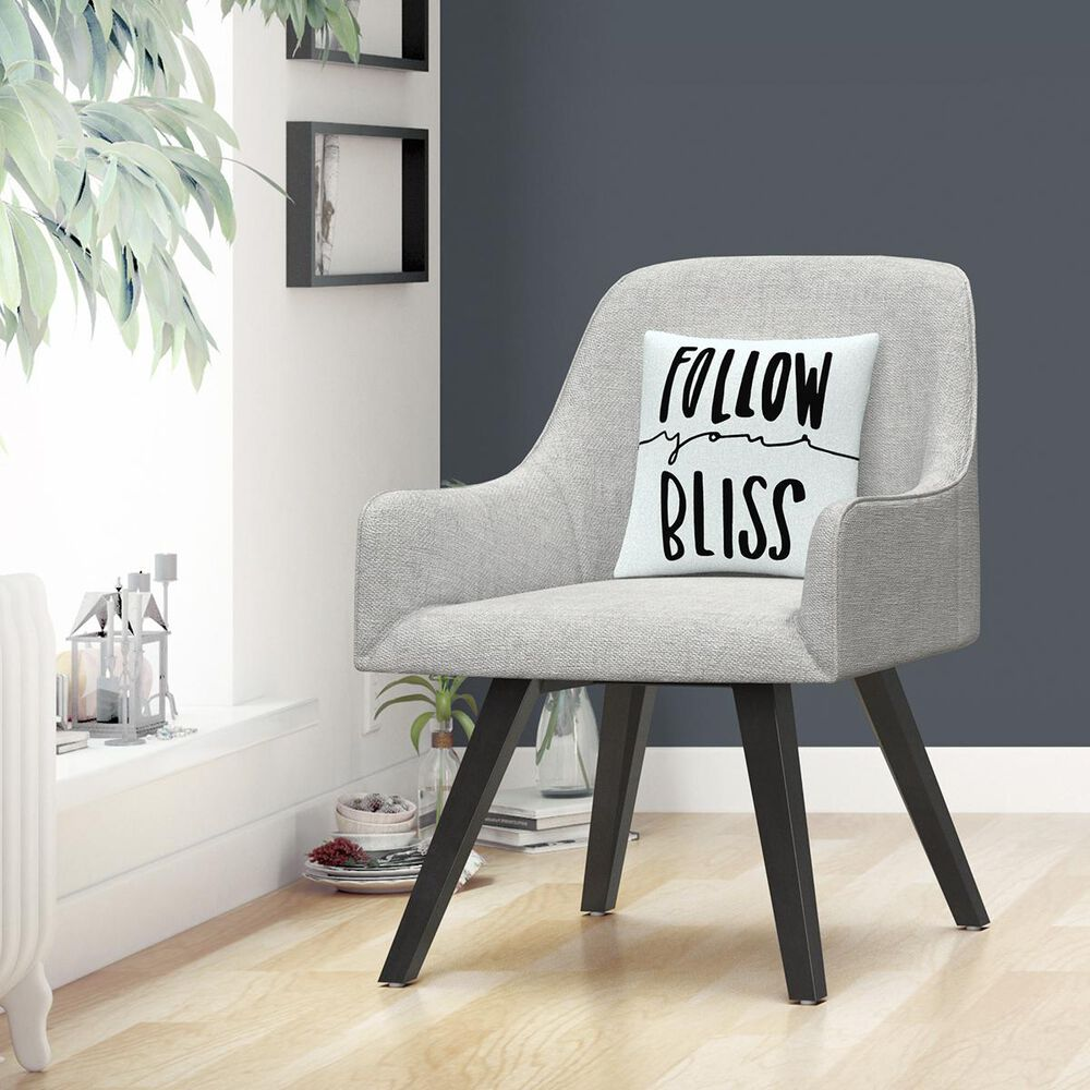 """Timberlake Typographic Follow Your Bliss By ABC 16"""" Decorative Throw Pillow, , large"""
