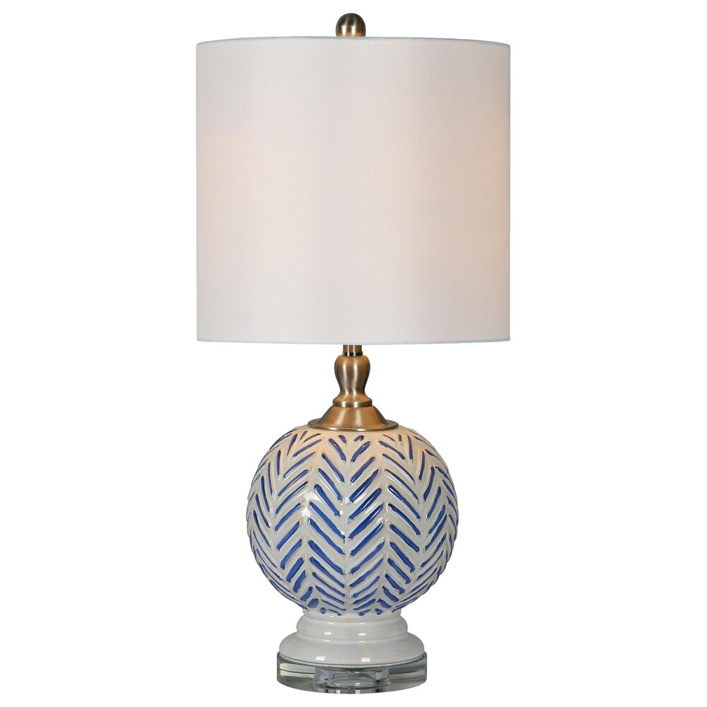 Southern Lighting Lulu Table Lamp in White and Blue, , large