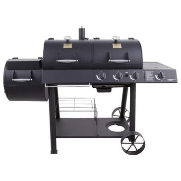 Char-Broil Oklahoma Joe's Longhorn Charcoal/Gas Grill and Smoker Combo in Black, , large
