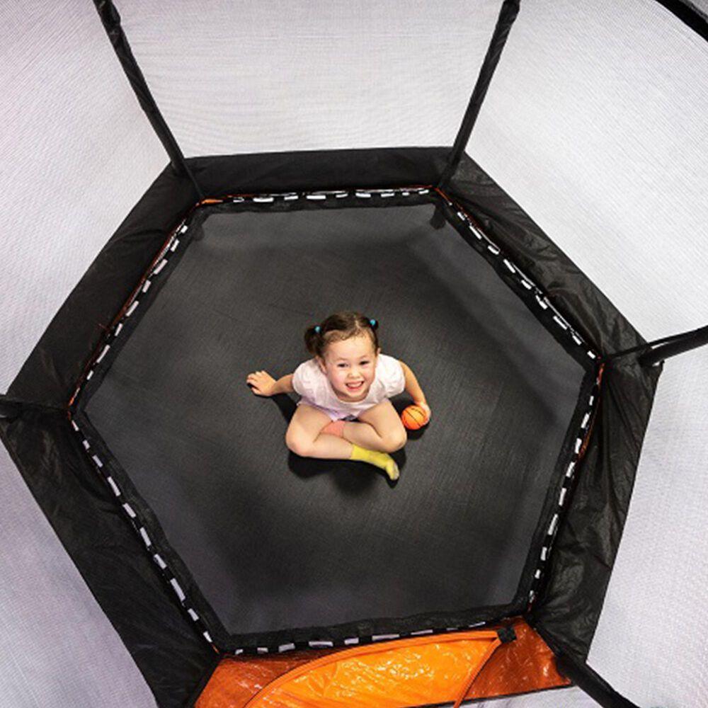 Jumpking 7 ft. Hexagonal ZordPOD Trampoline with Bonus Mini Basketball Hoop and Mini Ball, , large