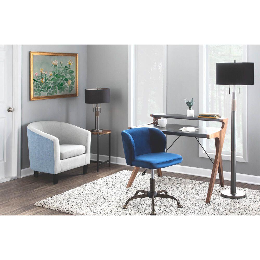 Lumisource Archer Desk in Grey/Walnut, , large