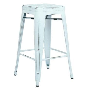 "OSP Home Bristow 26"" Antique Metal Barstool in Antique White Finish, , large"