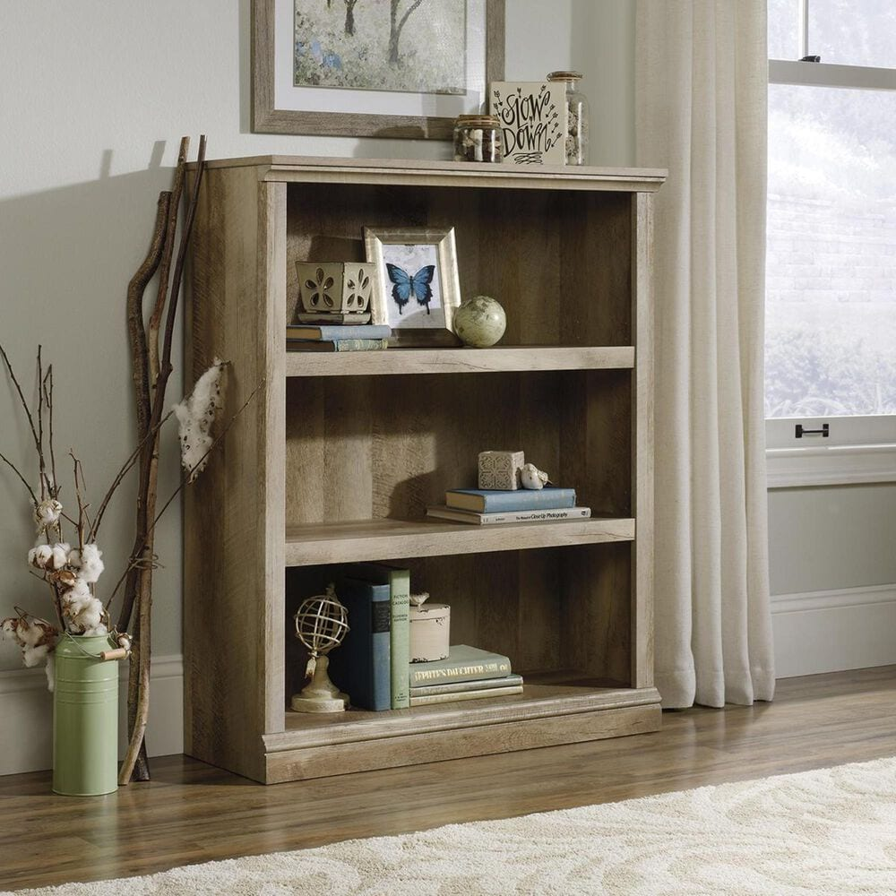 Sauder Select 3-Shelf Bookcase in Lintel Oak, , large