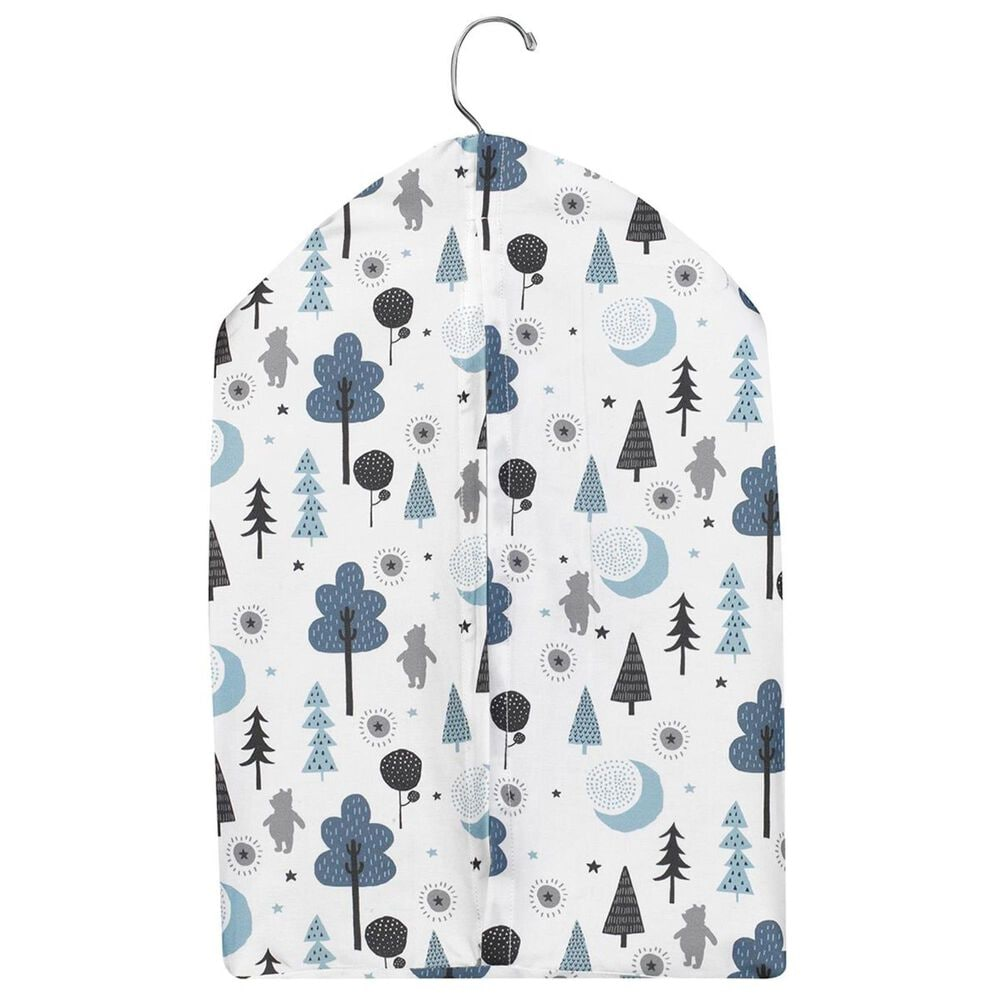 Lambs and Ivy Pooh Bear Diaper Stacker in White and Blue, , large