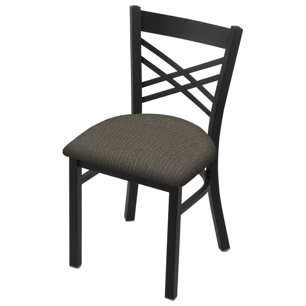 """Holland Bar Stool 620 Catalina 18"""" Chair with Black Wrinkle and Graph Chalice Seat, , large"""