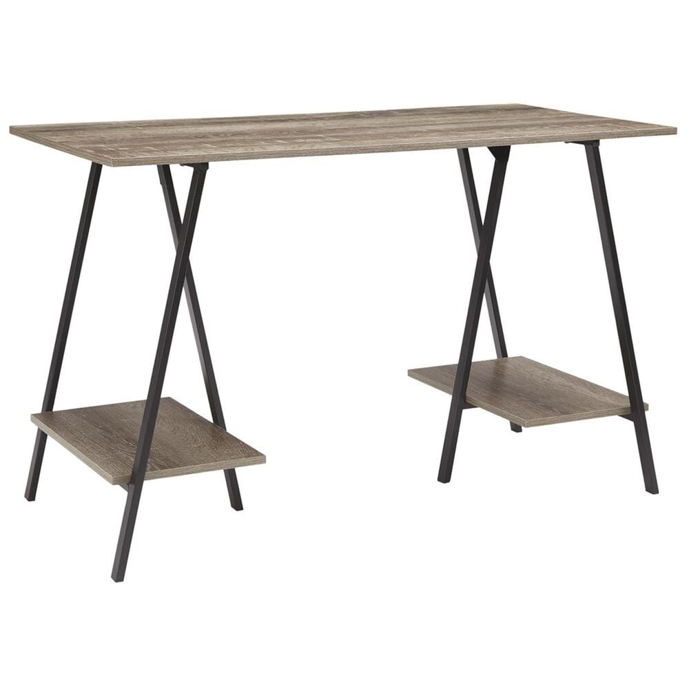 Signature Design by Ashley Bertmond Home Office Desk in Black and Natural, , large