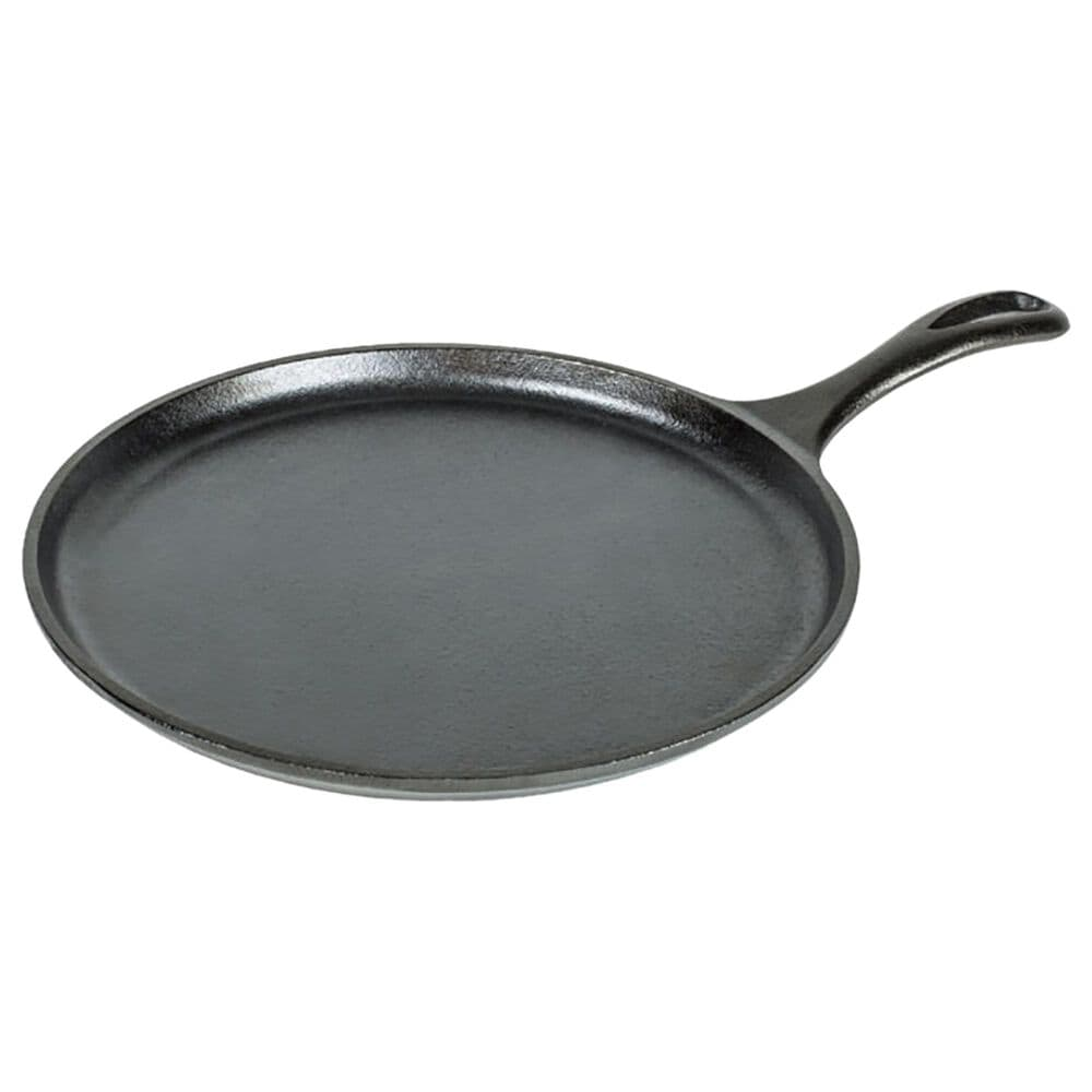 """Lodge Cast Iron 10.5"""" Round Cast Iron Griddle in Black, , large"""