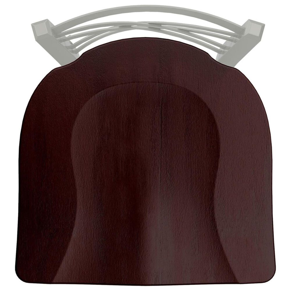 """Holland Bar Stool 620 Catalina 18"""" Chair with Anodized Nickel and Dark Cherry Maple Seat, , large"""