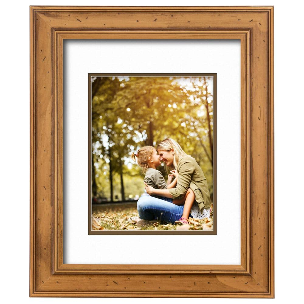 """Courtside Market 11"""" x 14"""" Light Wood with Brown Border Wall Frame with 8"""" x 10"""" Picture Opening, , large"""