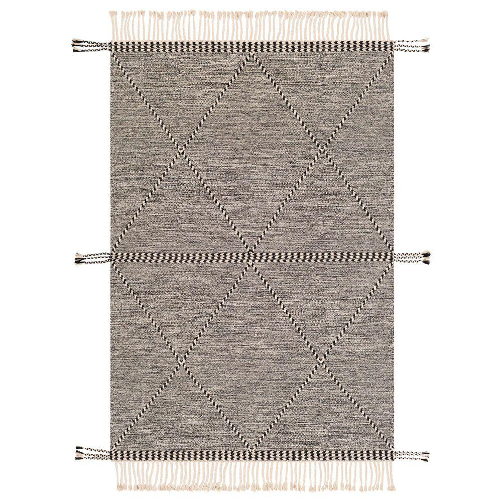 "Surya Zanafi ZNF-2301 5' x 7'6"" Black and Cream Area Rug, , large"