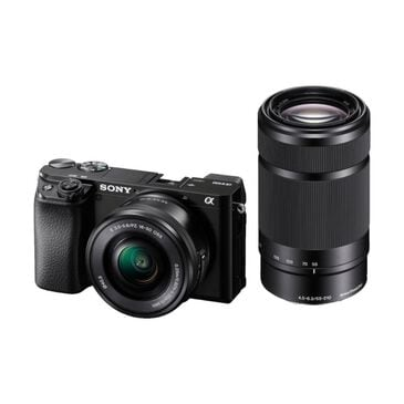 Sony Alpha 6100 Mirrorless Camera 2-Lens Kit with E PZ 16-50mm and E 55-210mm Lenses - Black, , large