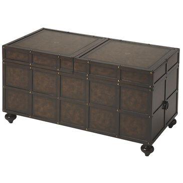 Butler Dennard Storage Coffee Table in Dark Brown, , large