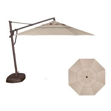 Garden Party 11' Cantilever Umbrella  in Khaki with Bronze Base, , large