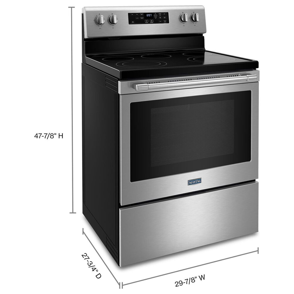Maytag 2-Piece Kitchen Package with 5.3 Cu Ft. Electric Range and Microwave in Stainless Steel, , large