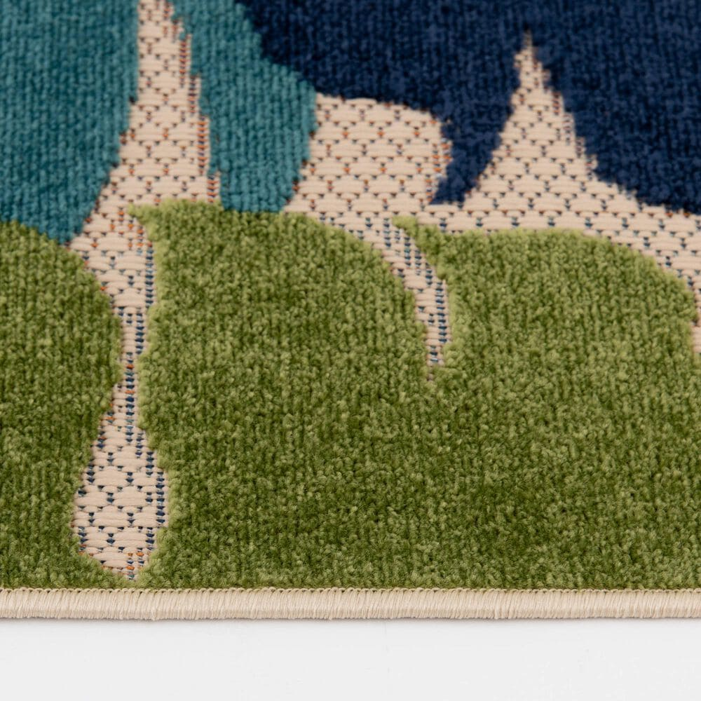 Central Oriental Fontana Halona 1659.04 5' x 7' Cream and Green Area Rug, , large