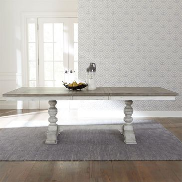 Belle Furnishings Whitney Trestle Table in Weathered Gray, , large