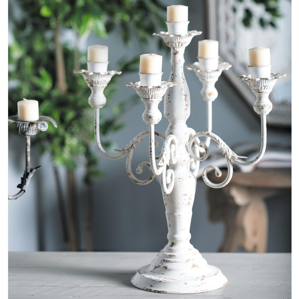 """Maple and Jade 19"""" x 16"""" Candle Holder in White, , large"""