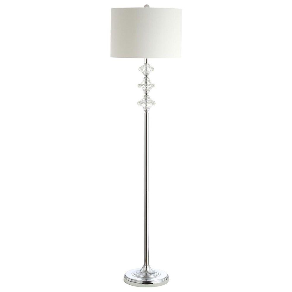 Safavieh Lottie Floor Lamp in White/Chrome, , large