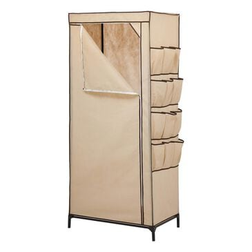 """Honey Can Do 27"""" Storage Closet with Shoe Organizer in Khaki and Brown, , large"""