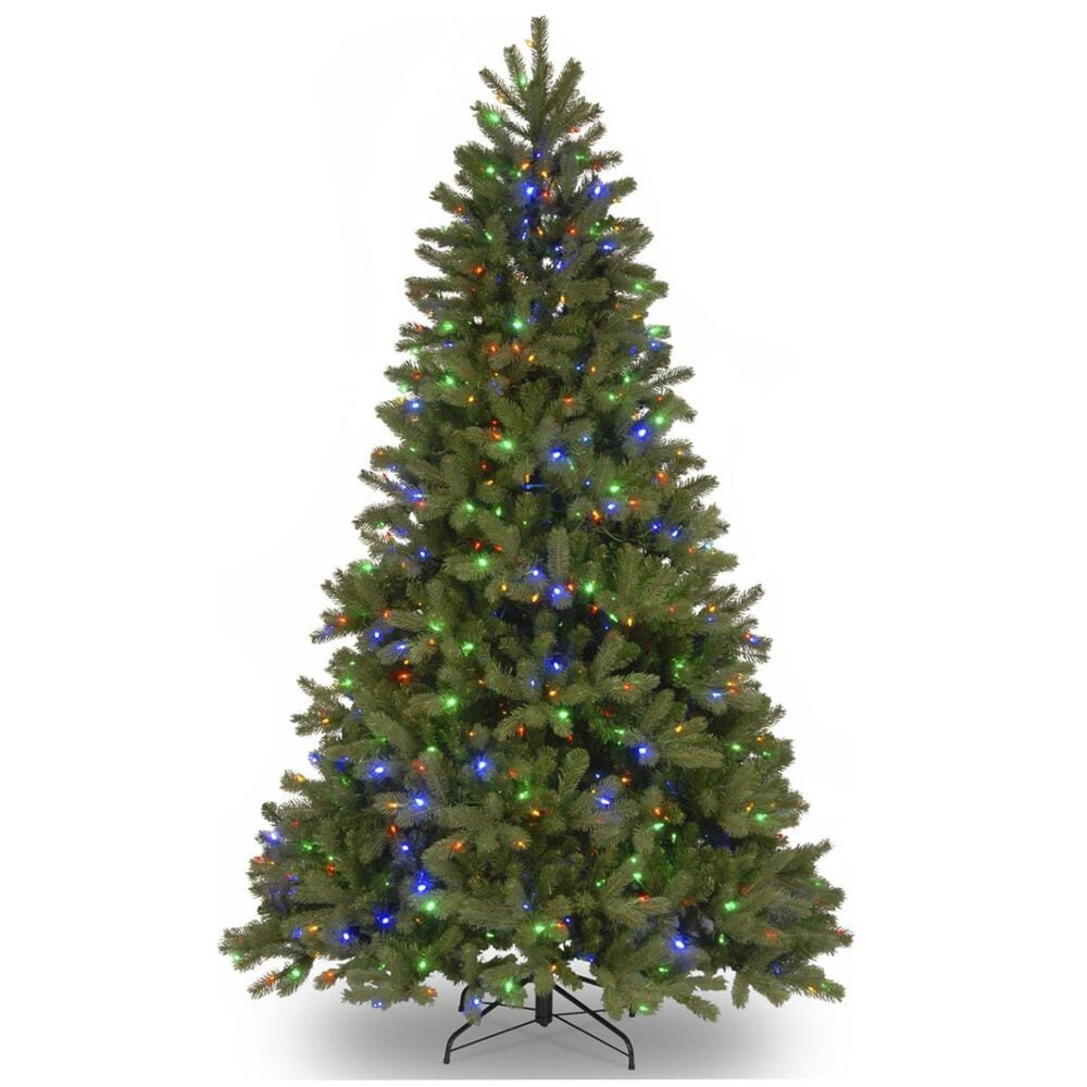 National Tree 6.5' Feel Real Downswept Douglas Fir Hinged Tree with 750 Dual Color LED Lights, , large