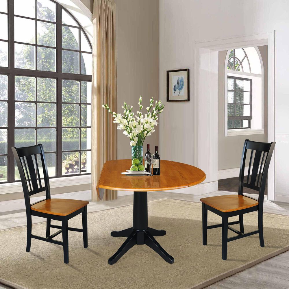 International Concepts 3-Piece Dining Set in Black/Cherry, , large