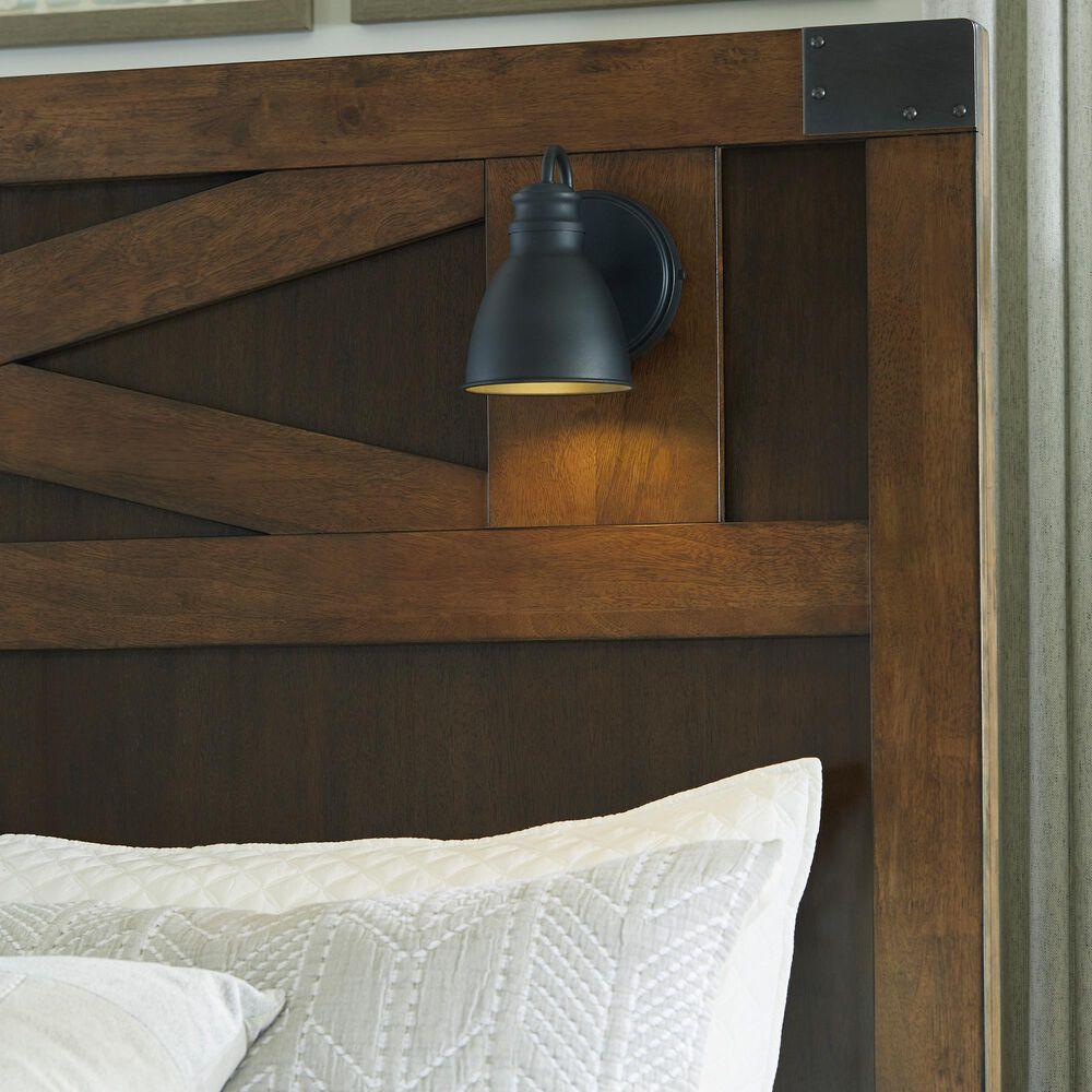 Signature Design by Ashley Wyattfield Queen Storage Bed in Walnut Brown and Dark Burnt Umber, , large