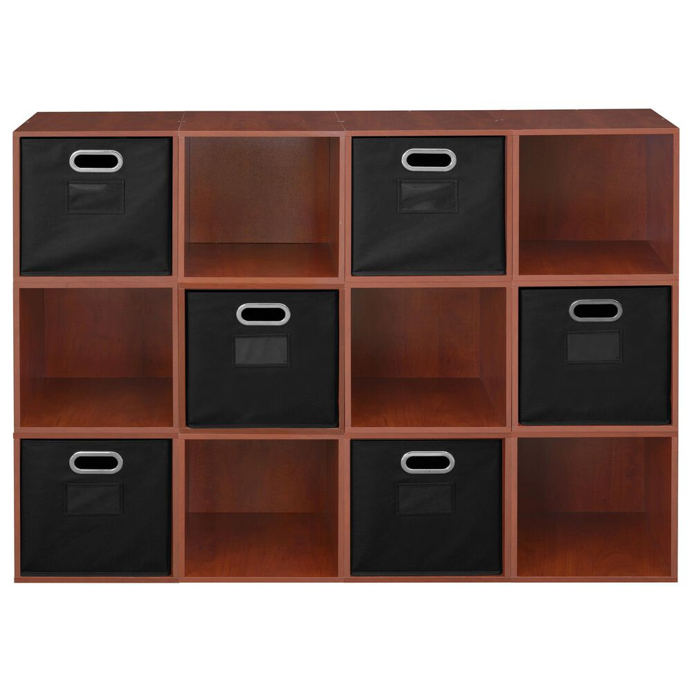 Regency Global Sourcing Niche Cubo 18-Piece Storage Cube Set in Cherry and Black, , large