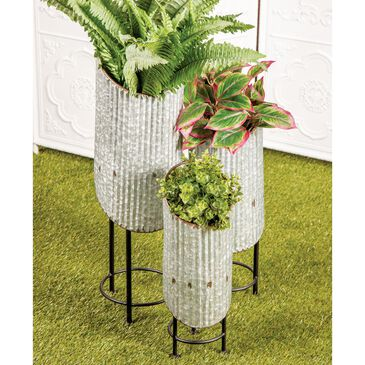 Maple and Jade Assorted Plant Stands in Grey (Set of 3), , large