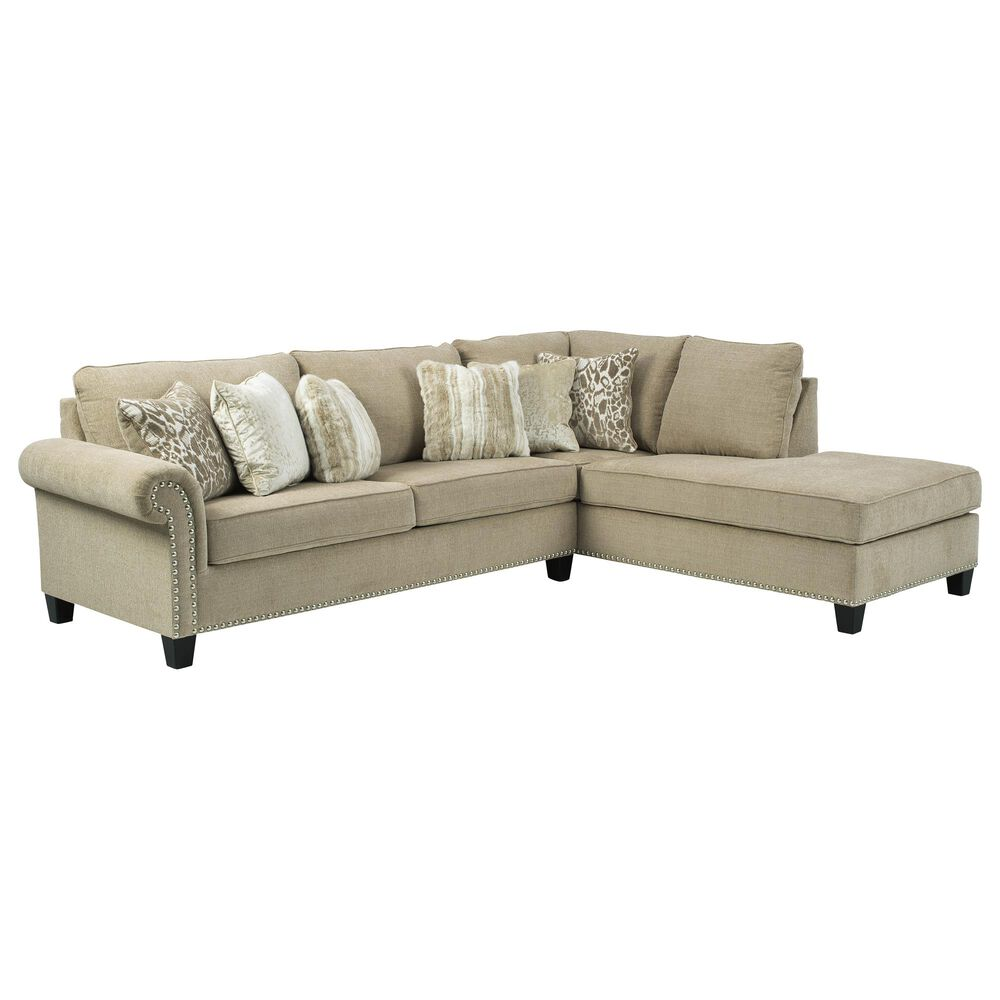 Signature Design by Ashley Dovemont 2-Piece RAF Stationary Sectional in Amoret Putty, , large